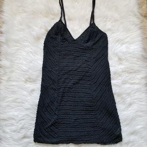 Intimately Free People Black Sheer Slip Dress M
